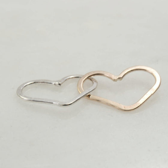 silver gold heart links