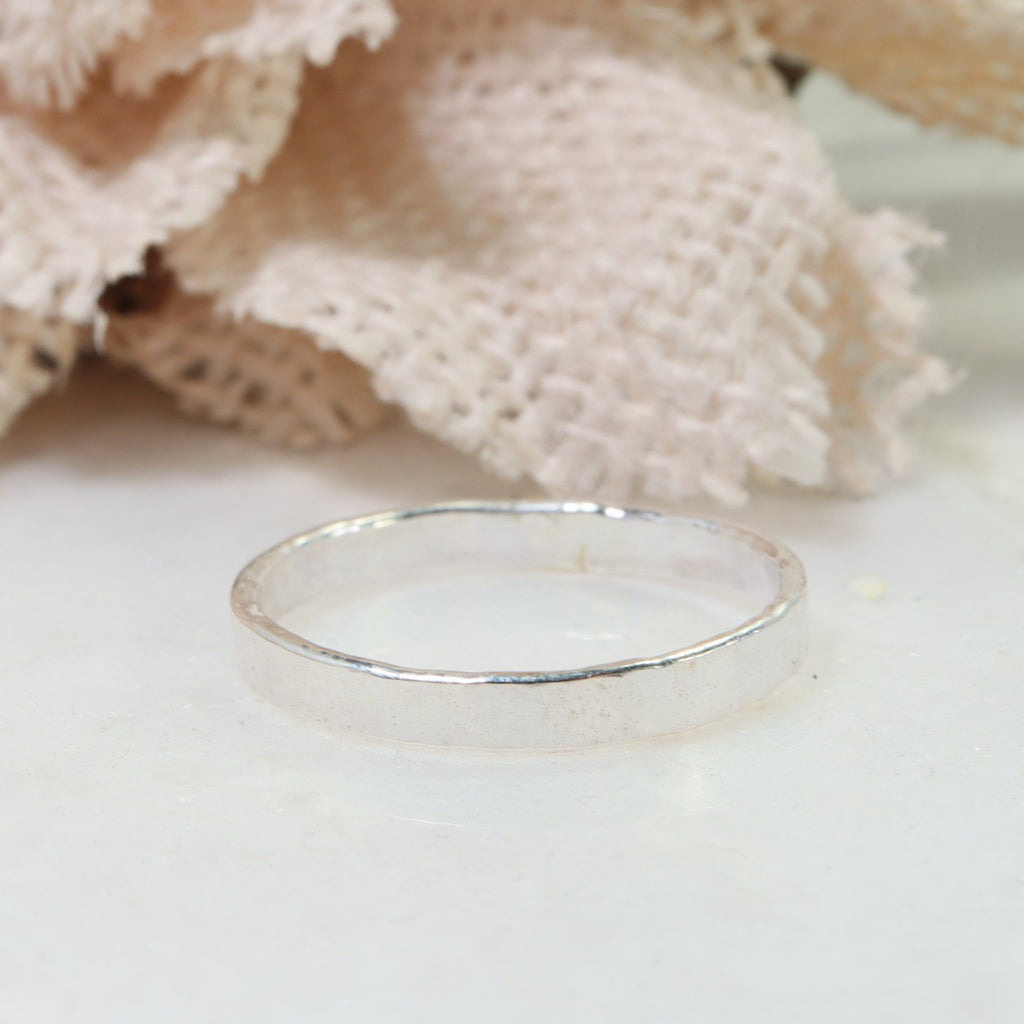 stamping ring 2.5mm silver
