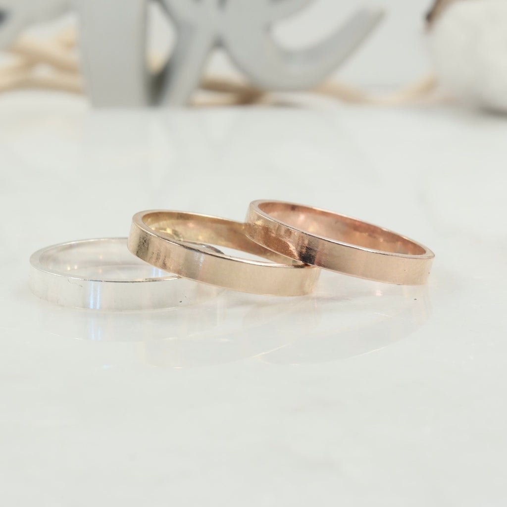 4mm plain stamping or engraving rings