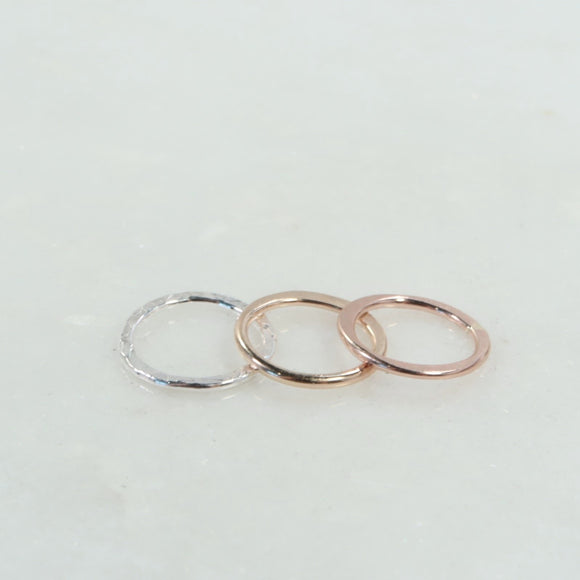 silver gold and pink gold circle shapes
