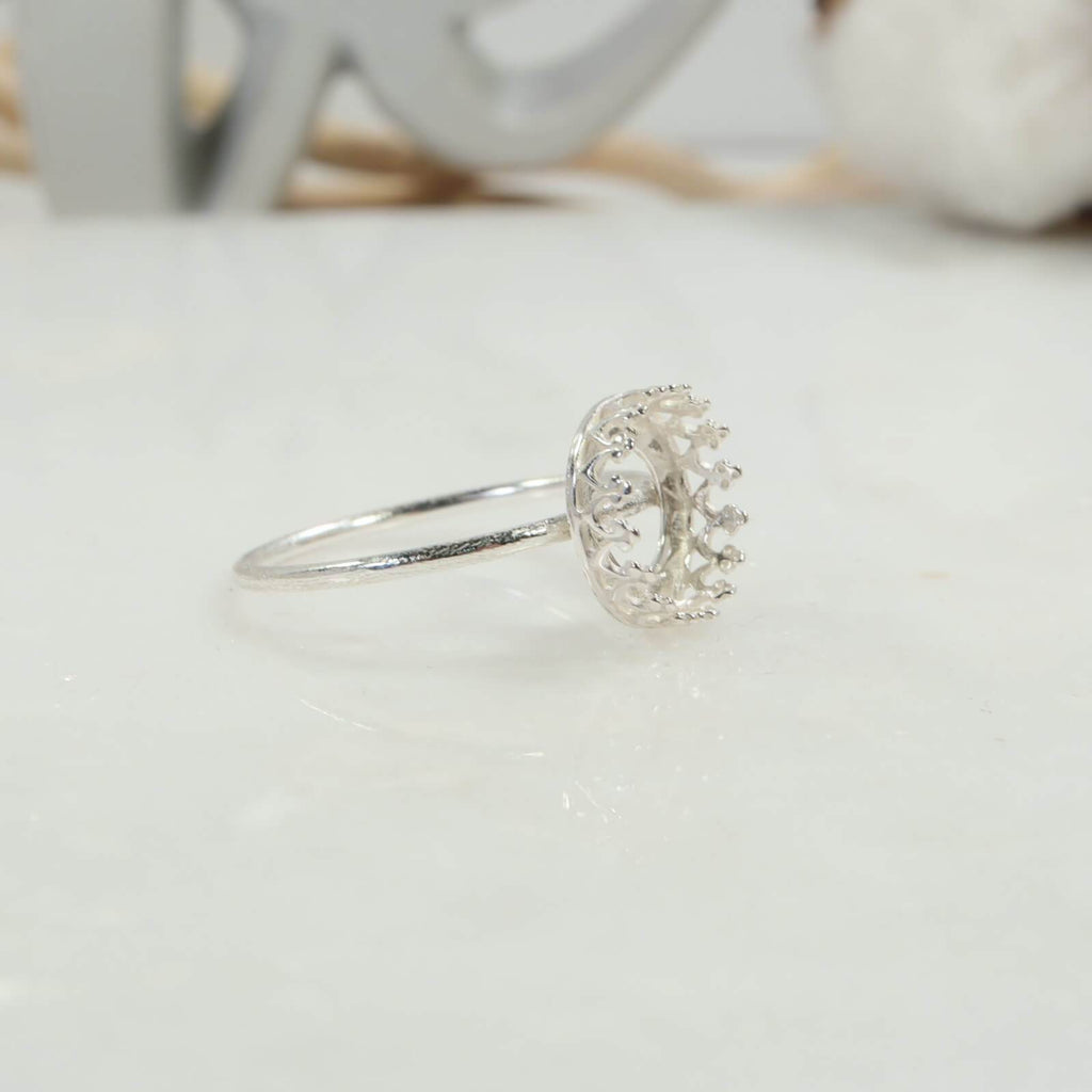 8mm crown bezel cup ring setting
