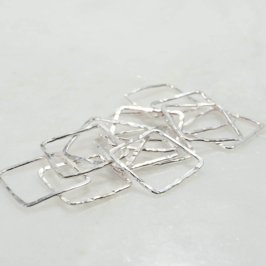 squares for jewelry making silver 8mm 16 gauge
