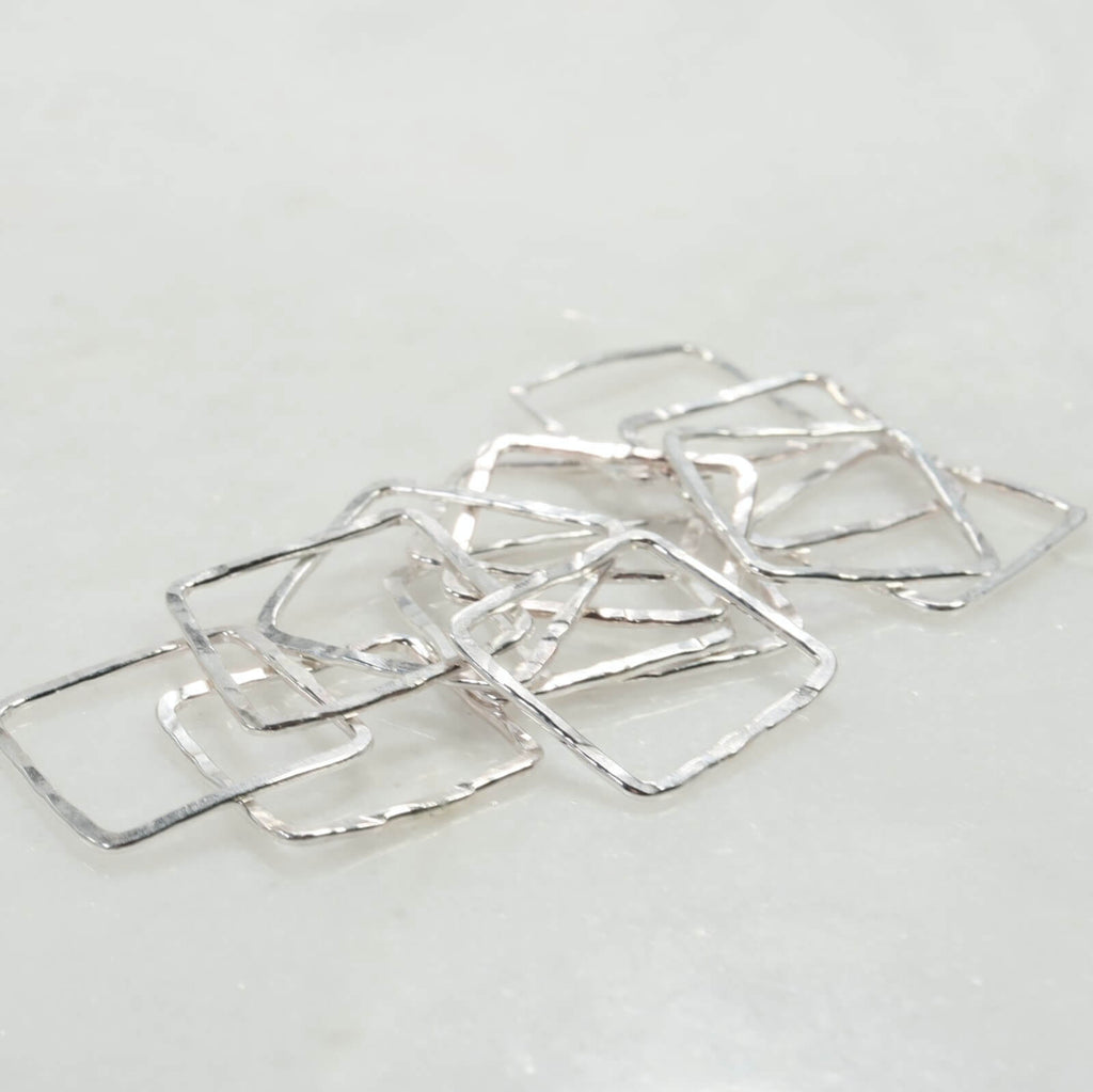 squares for jewelry making silver 16mm 16 gauge