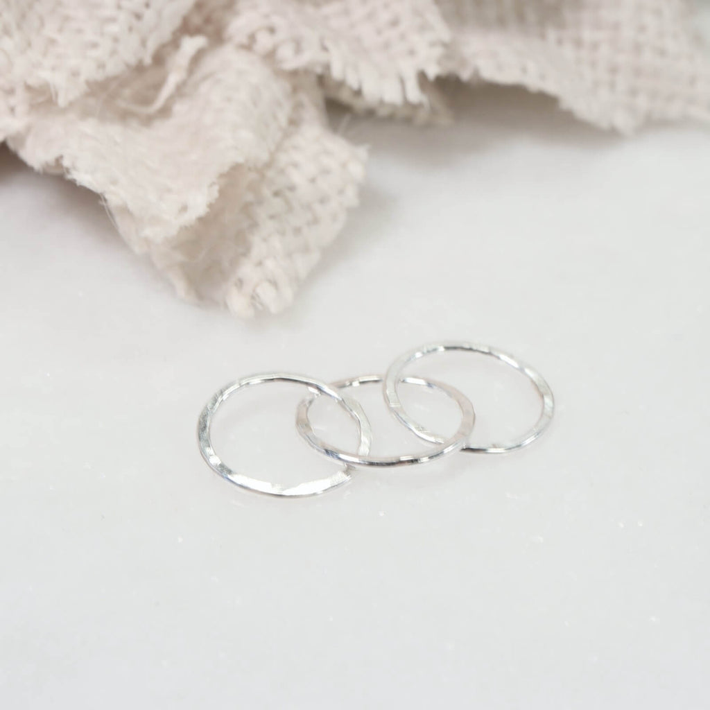 triple circle links silver 6mm