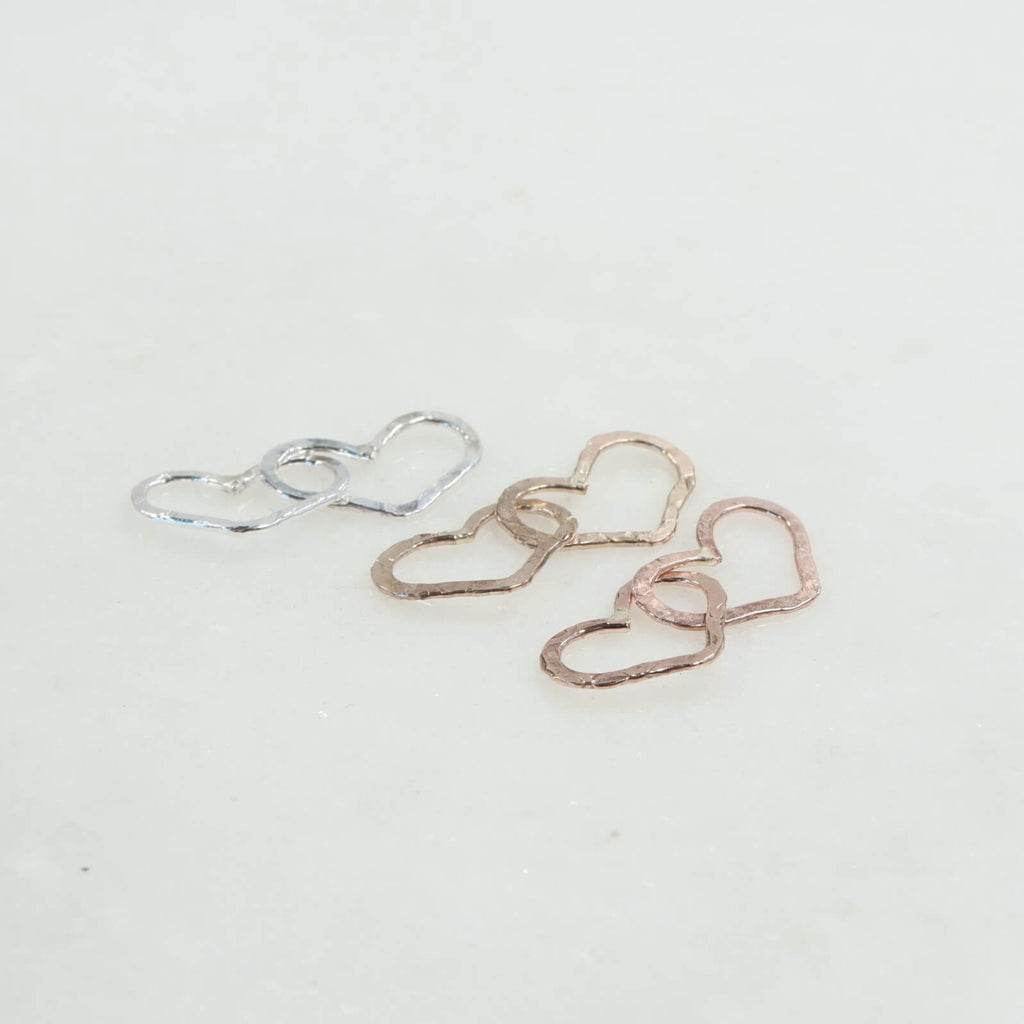 Link Connectors Circles Triple Silver & Gold 10mm 3 Rings