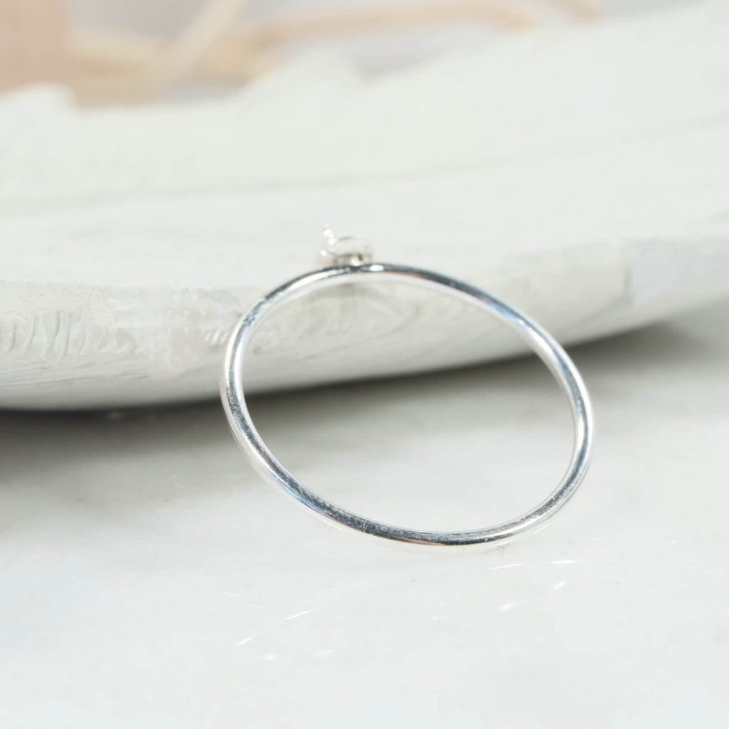 back view plain pearl ring setting
