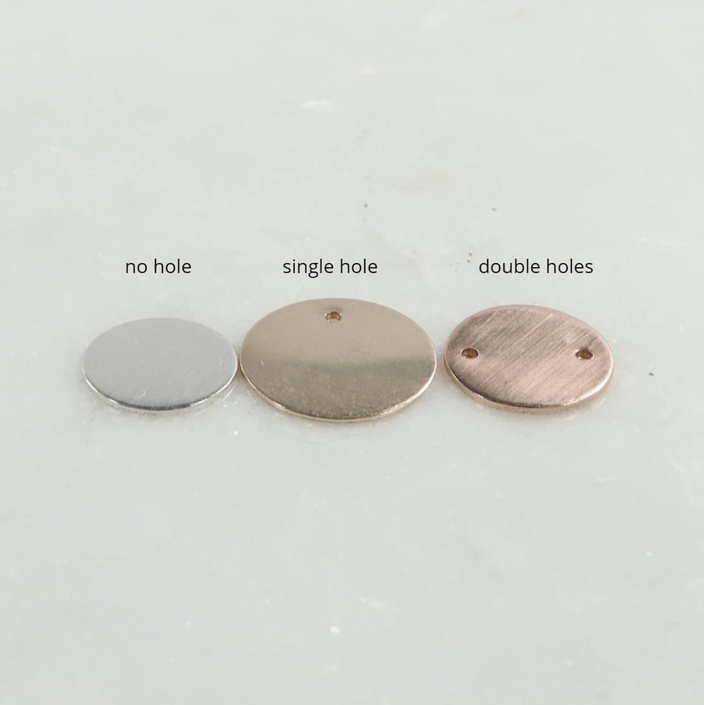 jewelry tags hole options 8mm