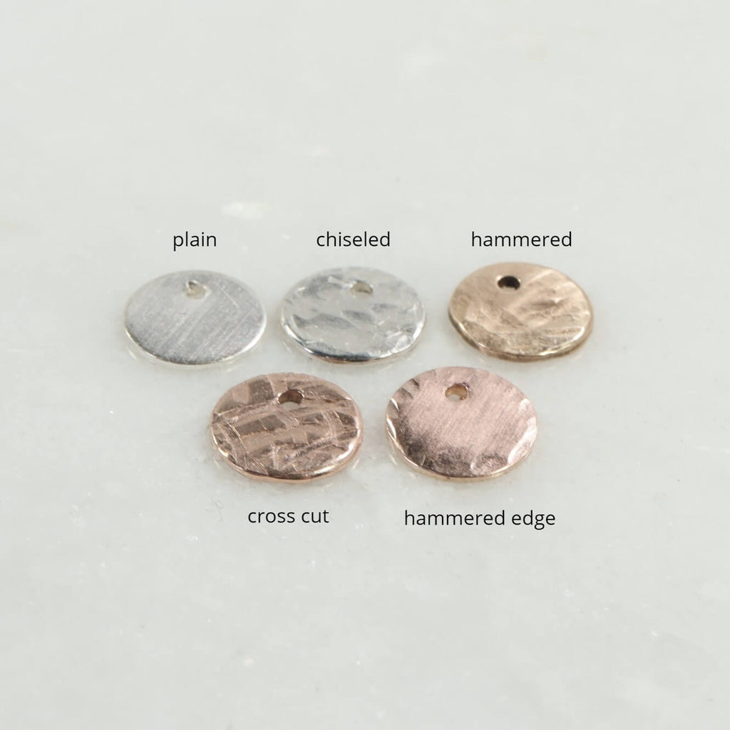 jewelry tags texture options 9mm