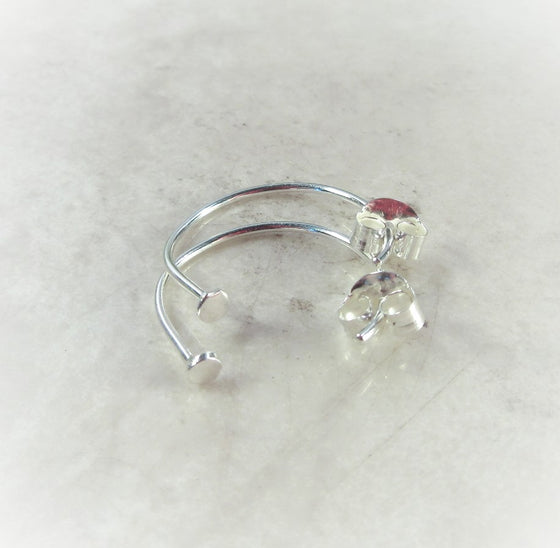 hoop earrings with stops for jewelry making