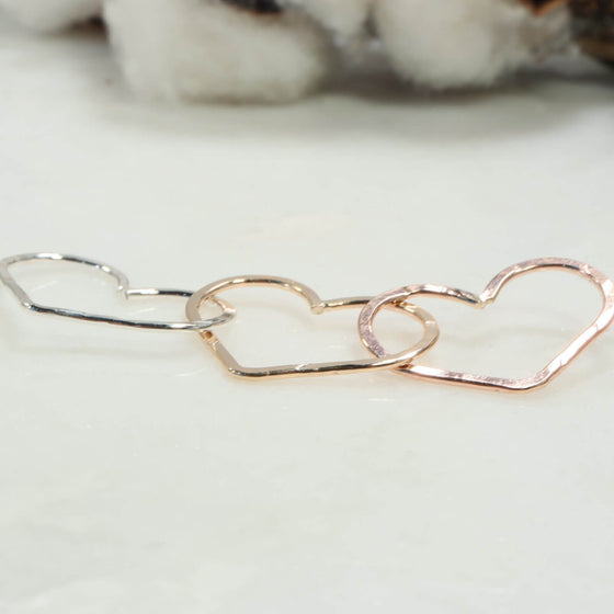 hearts linked 25mm