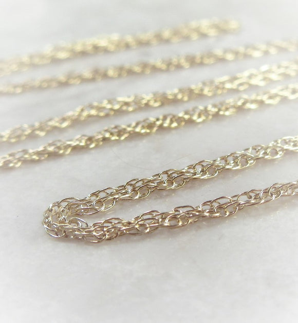 gold filled double rope chain
