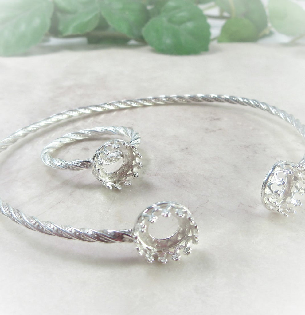 bezel cup bracelet and ring