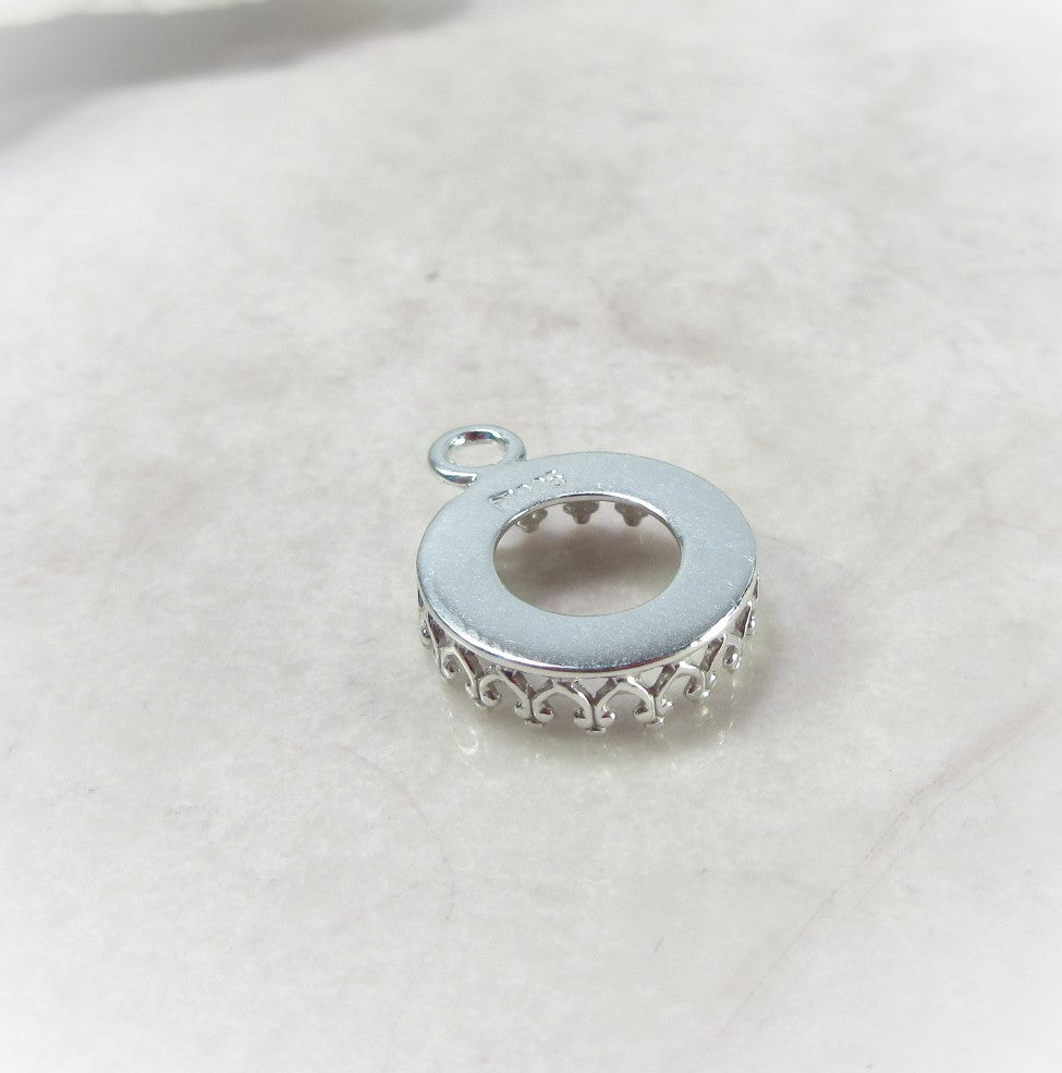 silver bezel cup setting for earrings