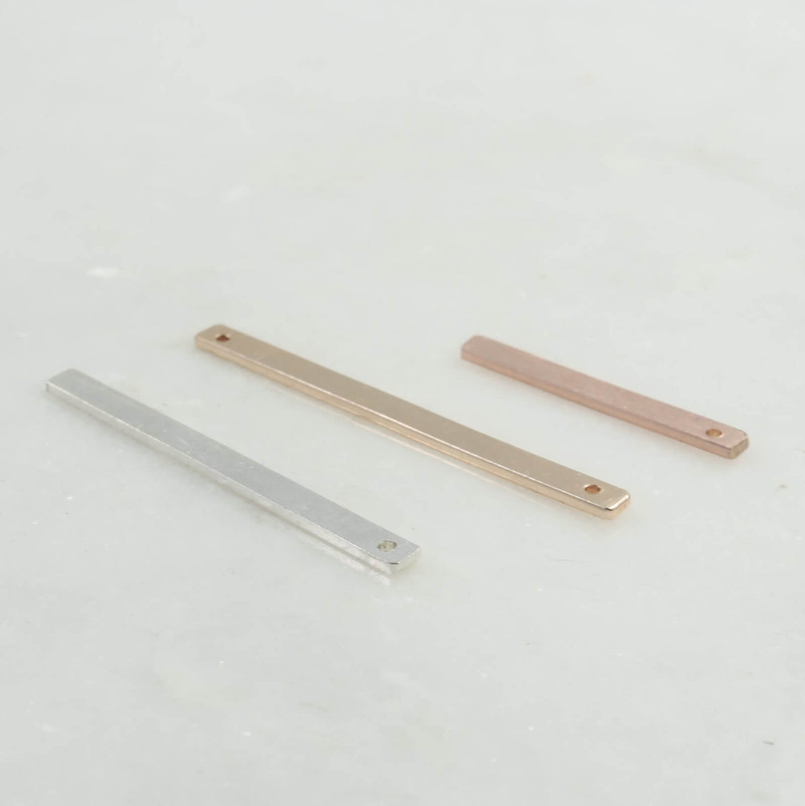 Jewelry Bar 6mm Wide Choose Your Length, Metal, Texture And Holes