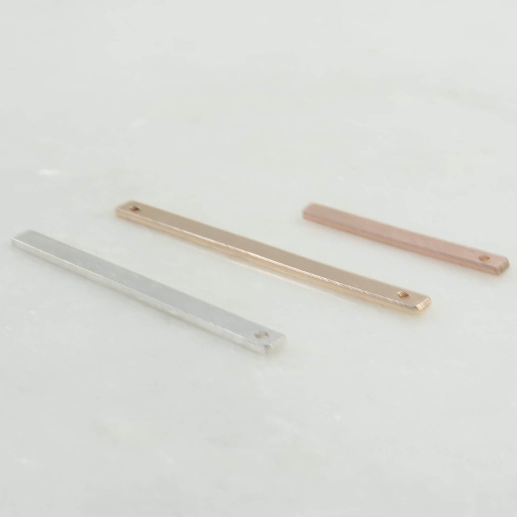 bars for jewelry making silver, gold, pink gold