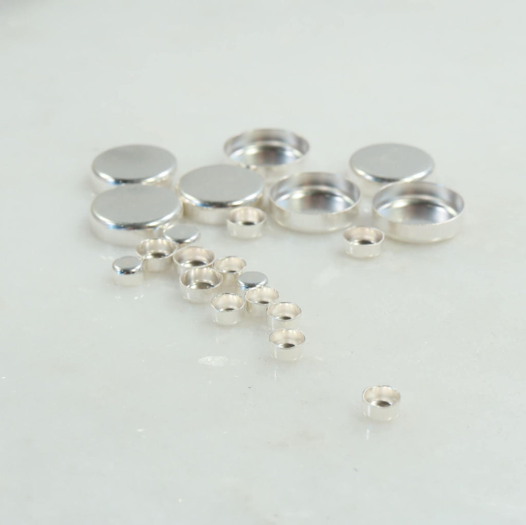 silver high wall bezel cups