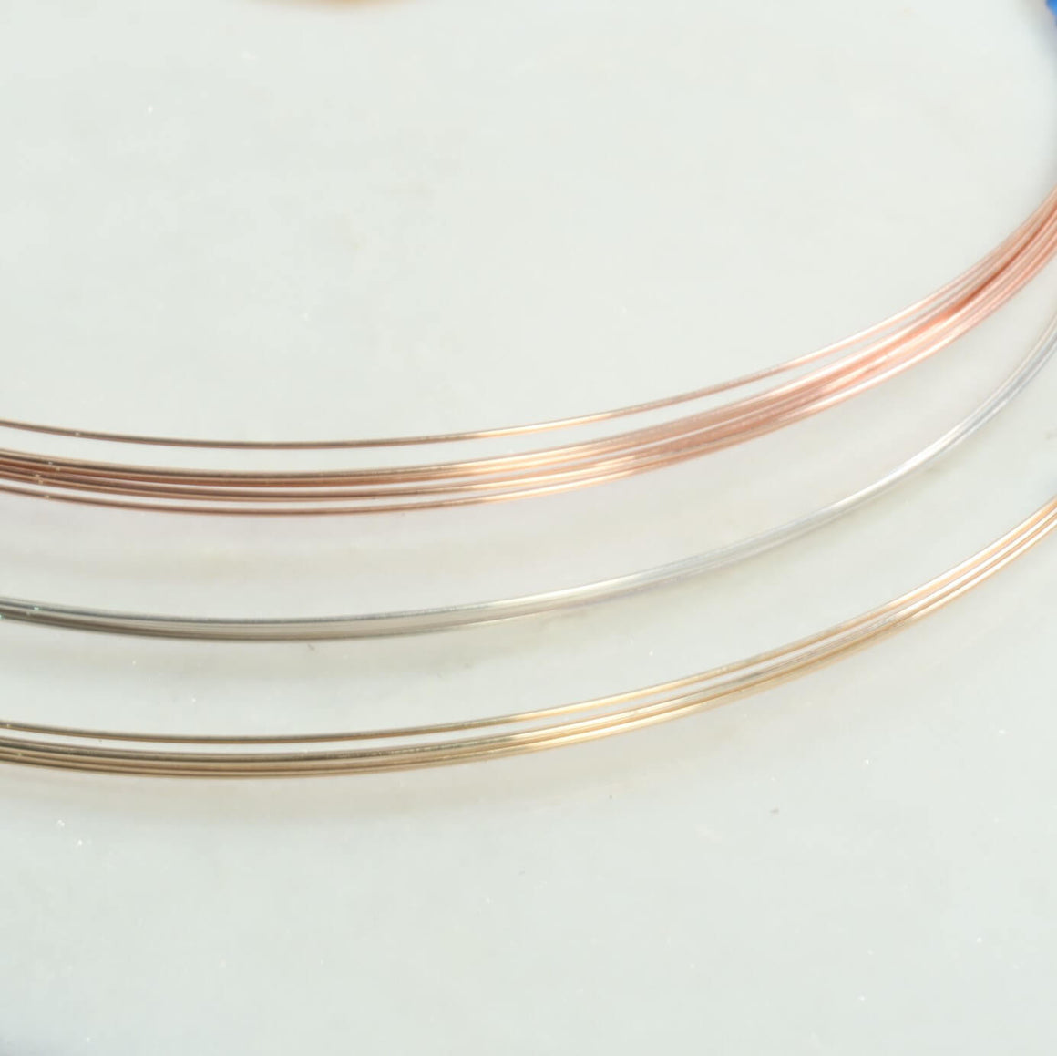 18 gauge wire silver, gold, pink gold