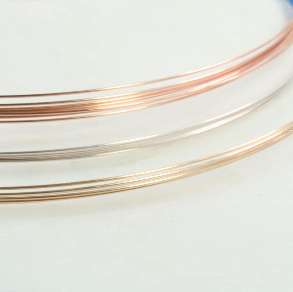 20 gauge jewelry wire silver, gold, pink gold