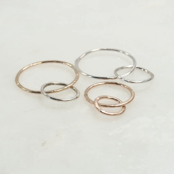 off set links silver, gold, pink gold