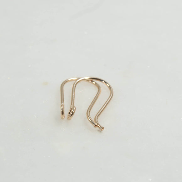 plain ear wires silver, gold, pink