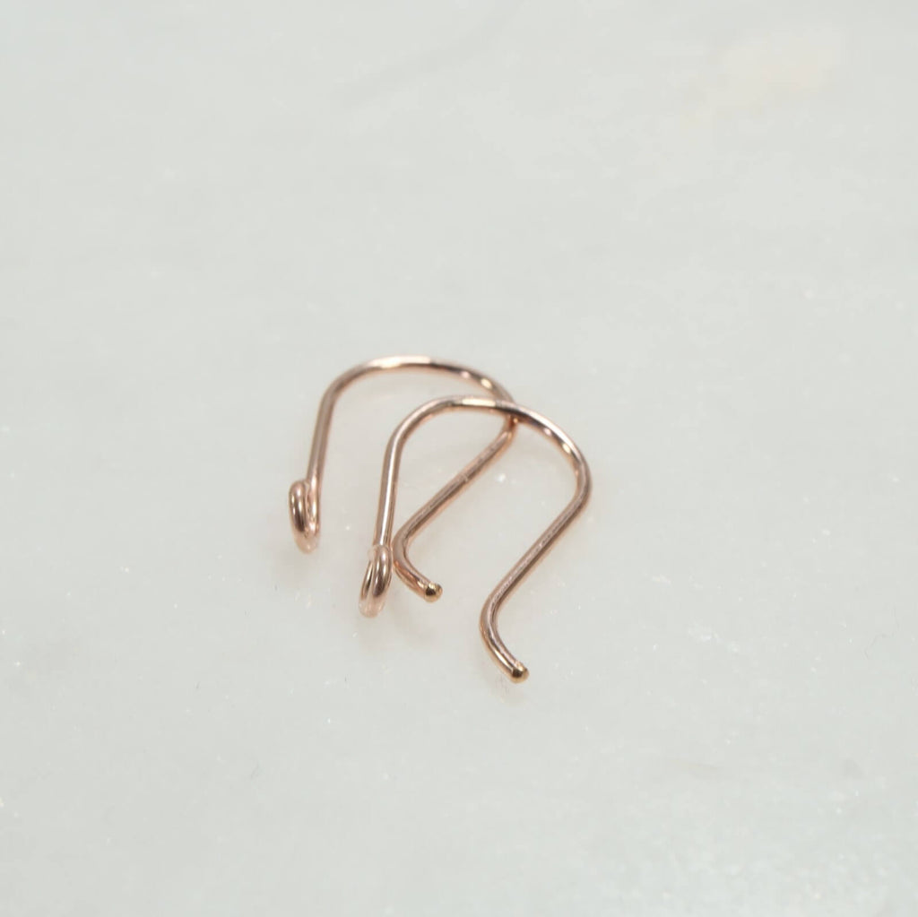 pink gold plain ear wires