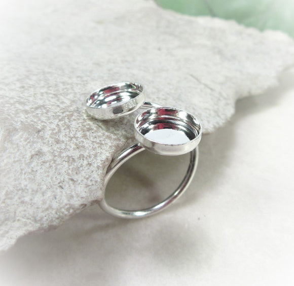Double bezel cup ring 8mm/8mm