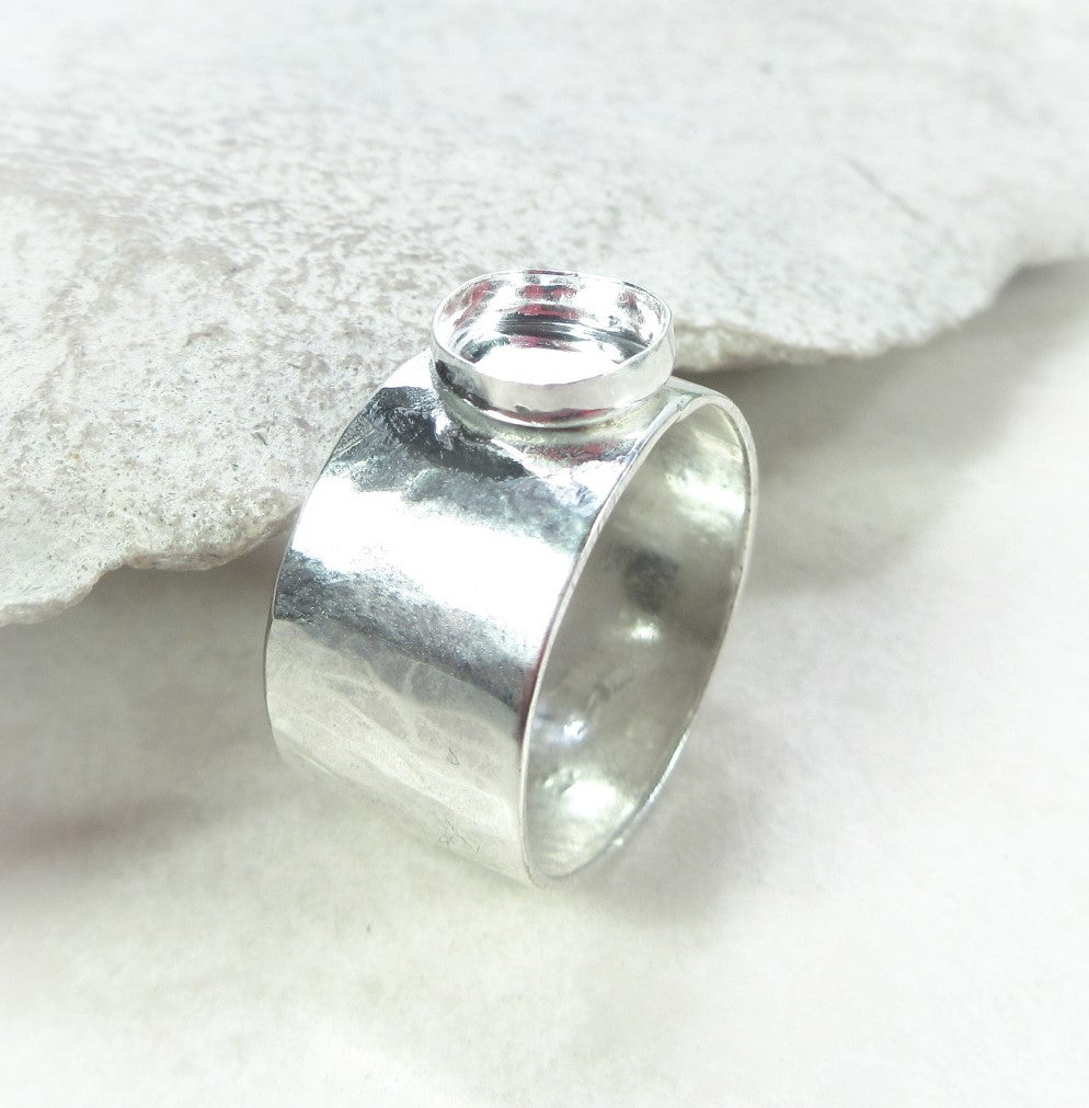 ring setting with bezel cup your choice of size