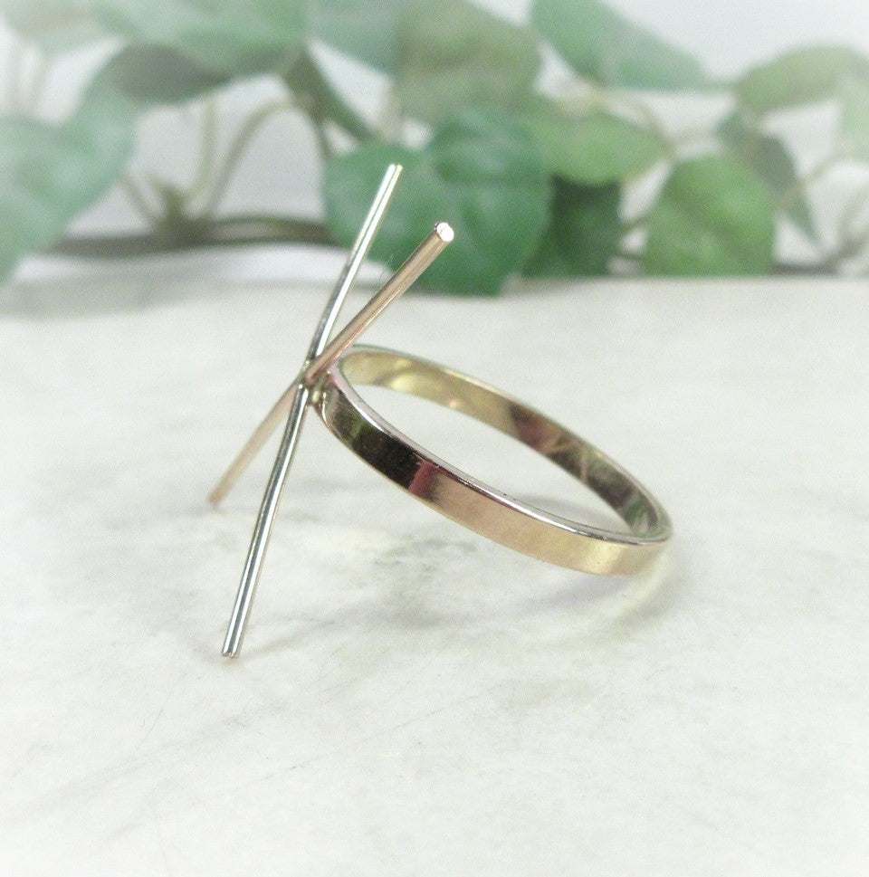 rough gemstone ring setting gold