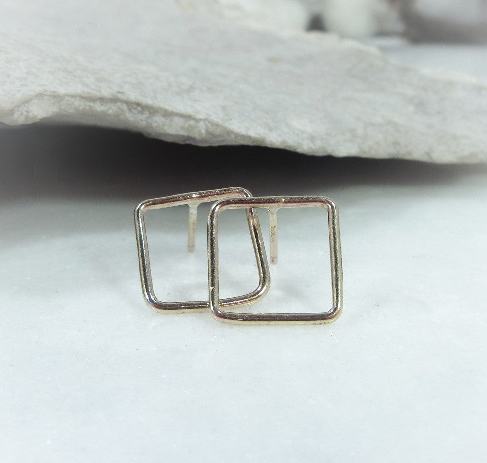 square post earrings for jewelry making