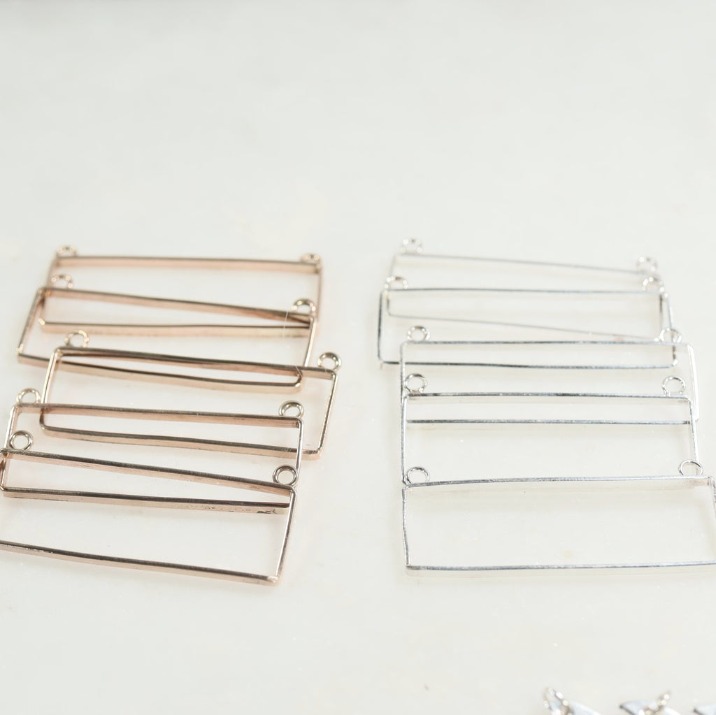 rectangle frames for resin jewelry