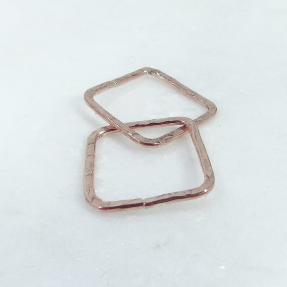 20mm pink gold square links