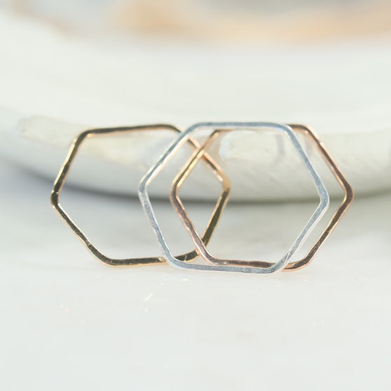 side view hexagon shapes