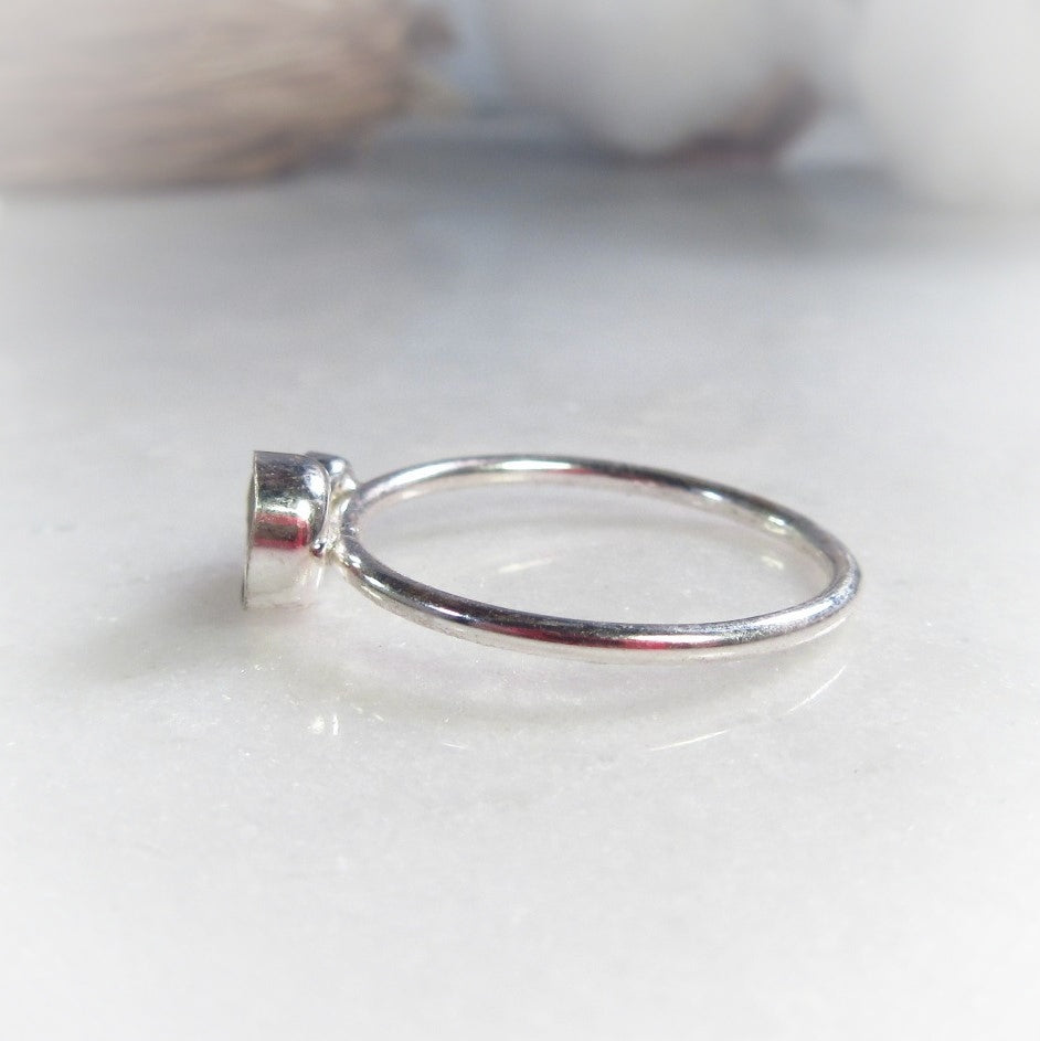 Double Bezel Cup Ring Setting Silver 5mm And 3mm Choose Your Metal