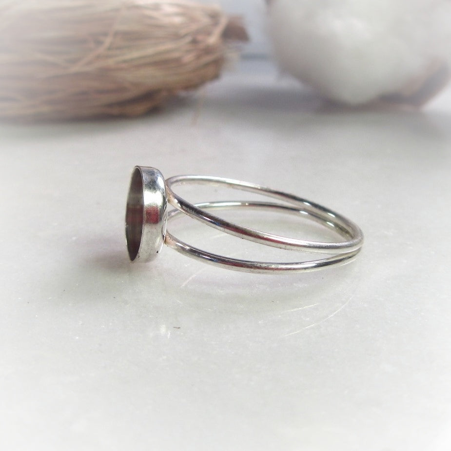 Double Band Bezel Cup Ring Setting 6, 8 and 10 mm Choose Your Metal And Ring Size