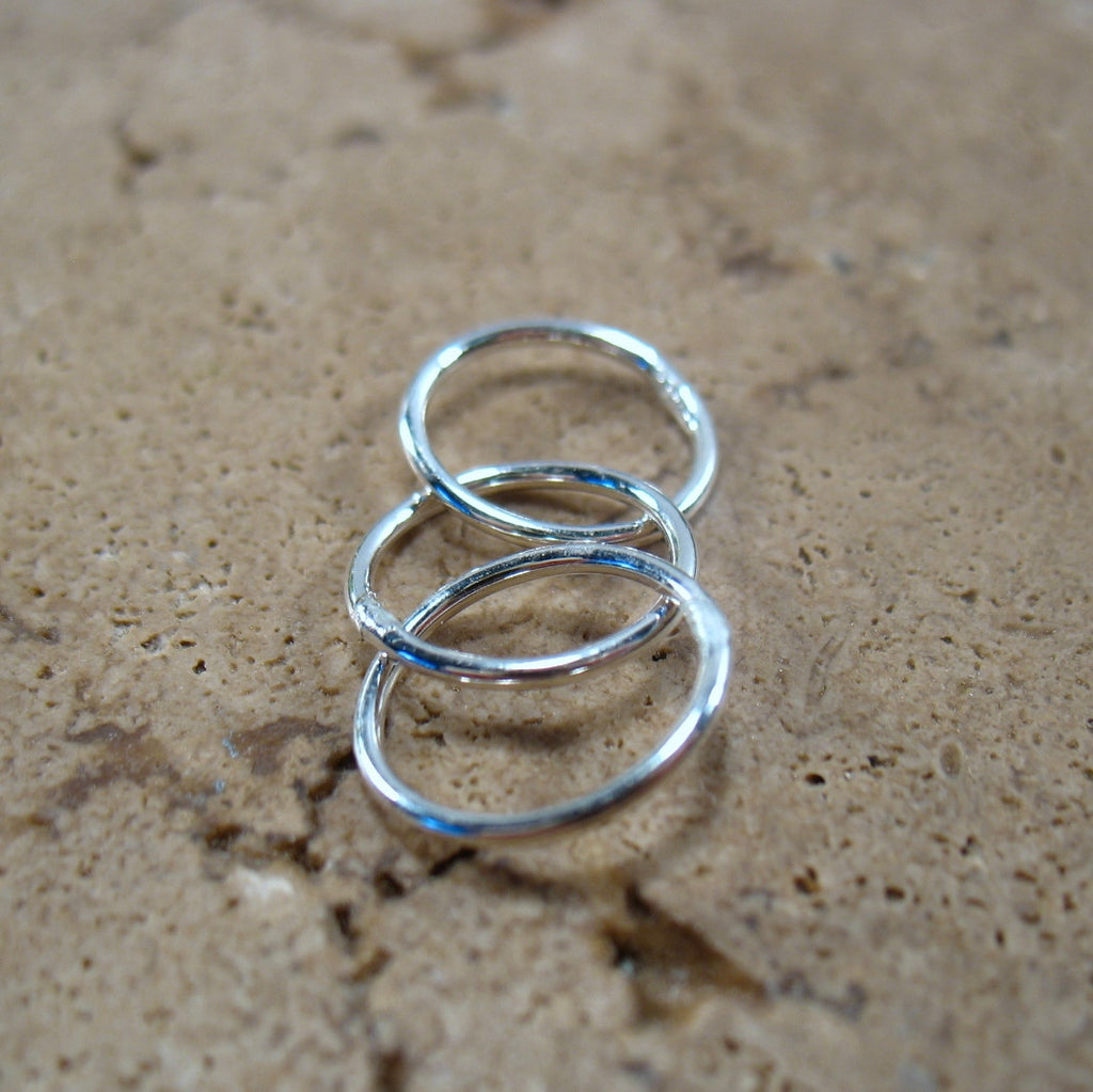 silver three circles for making earrings