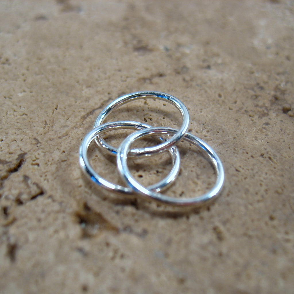 silver circles for jewelry creations