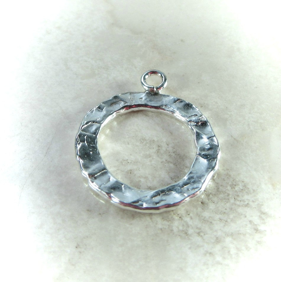 washer with loop sterling silver