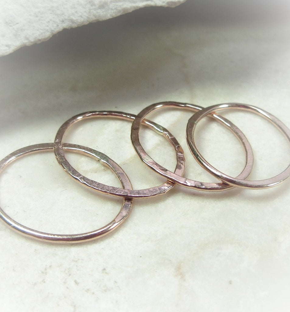 Oval Shapes 18g Pink Gold - Choose your Size