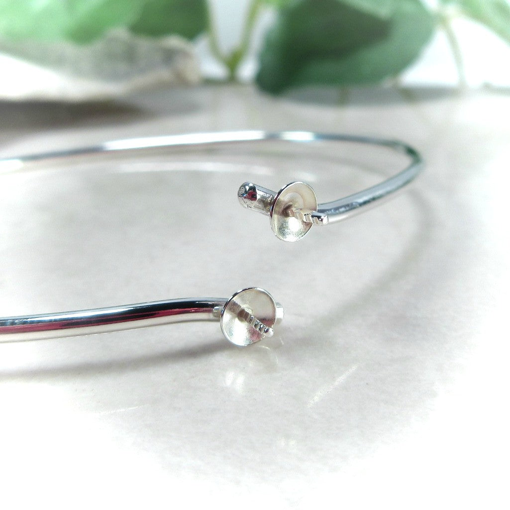 perl bracelet setting in silver or gold