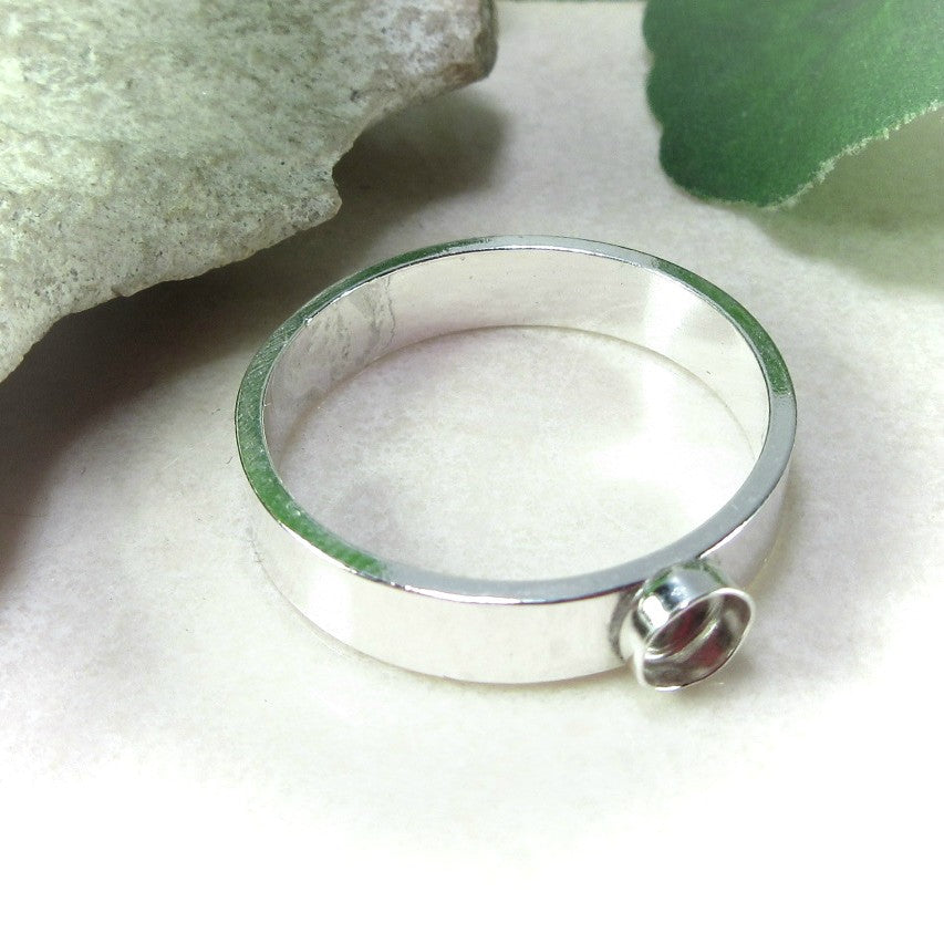 plain wide band bezel cup setting for resin designs