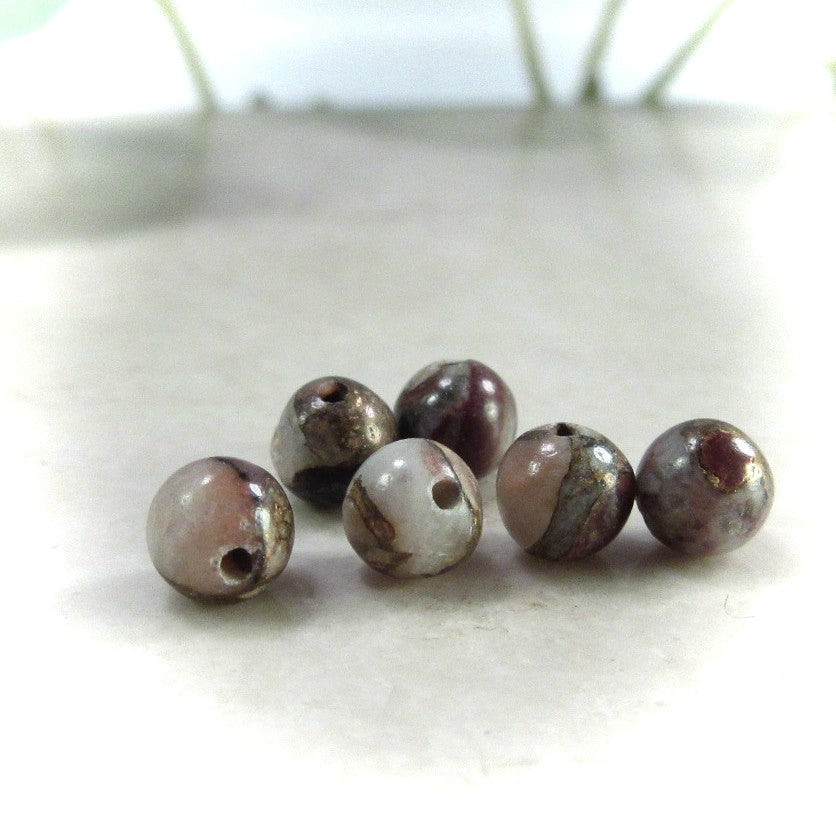 red calcite 4mm beads