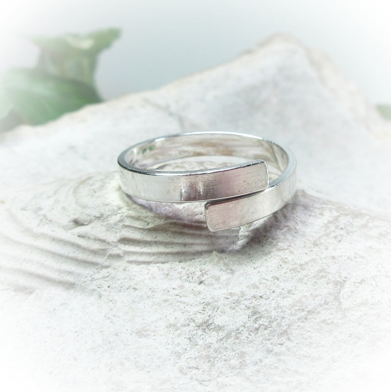 sterling silver hand stamp ring blank