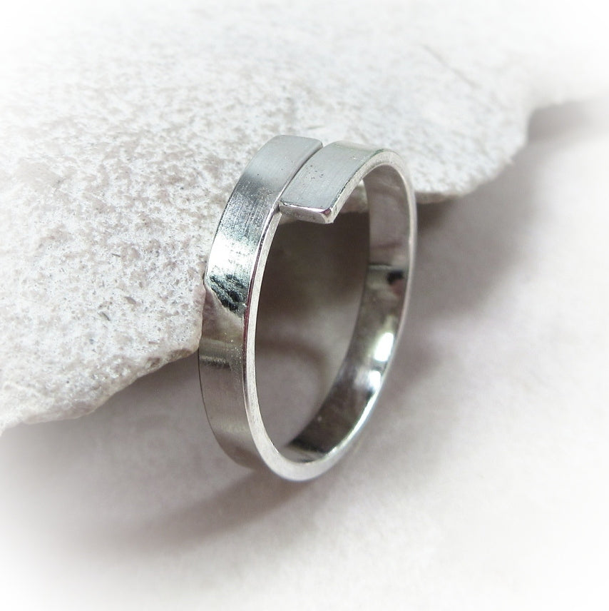 silver by pass ring blank