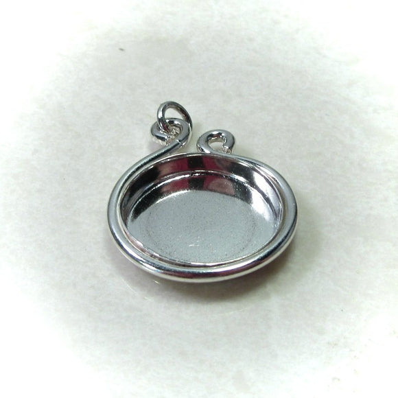 silver tear drop bezel cup setting