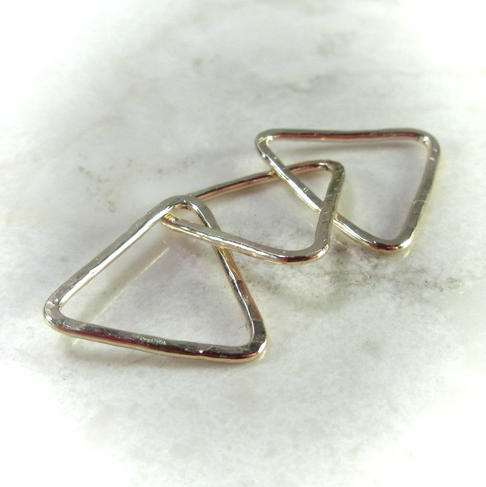 rose gold triangle connectors