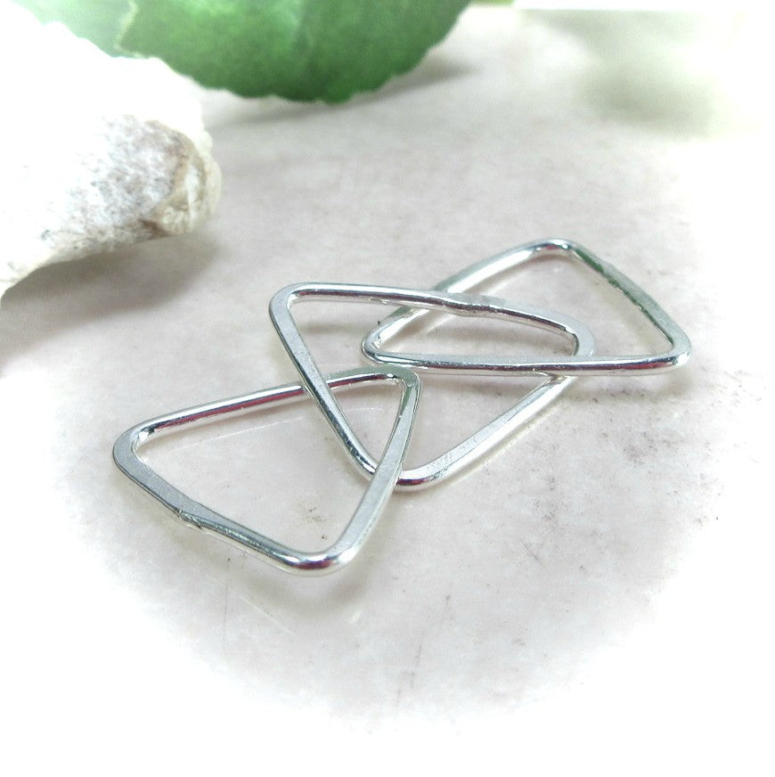 10mm triangle connectors for jewelry making