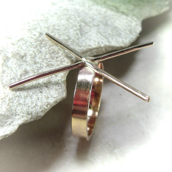 plain gold 3 mm wide ring setting