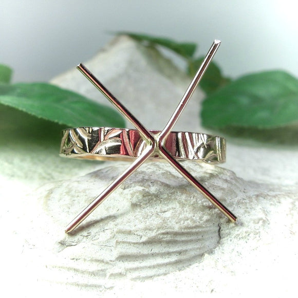 top view cross cut ring setting 3 mm wide