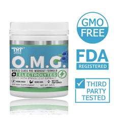 OMG Natural, Organic Pre Workout Mix – Caffeine, Creatine, L Citrulline, L Tyrosine, Beta Alanine, Synephrine, & COQ10 Supplement Powder for Women & Men – Preworkout Weight Loss, Fat Burn, Muscle Gain - hardbodynutritional.com