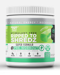 Ripped to Shredz Stimulant and Caffeine Free Preworkout for Men and Women with No Creatine | Electrolytes and Organic Stevia for Clean Energy - hardbodynutritional.com